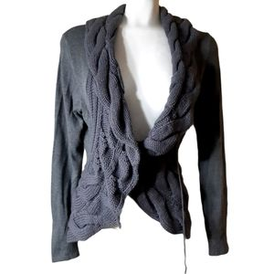 Contemporaine by SIMONS | waterfall scarf cardigan